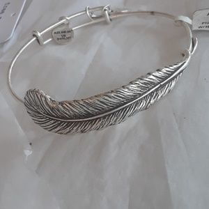"Alex and Ani's ""Plume Feather Wrap. llllBRAND NWT!"